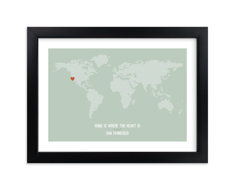 """Home Is Where the Heart Is"" by InkDot in beautiful frame options and a variety of sizes."
