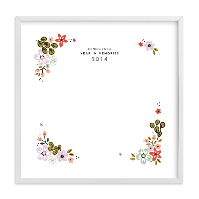This is a red custom art by Alethea and Ruth called Fresh Florals Keepsake with standard.