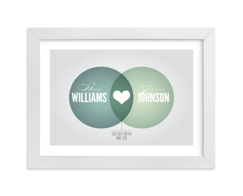 This is a green custom art by Jessie Steury called Lovely Venn Diagram with standard.