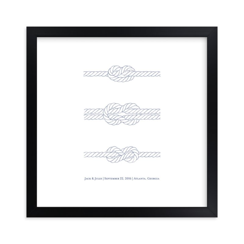 """""""We Tied the Knot"""" by Ashley Ottinger in beautiful frame options and a variety of sizes."""