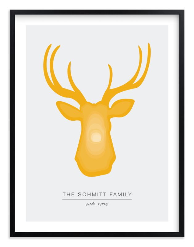 """""""Deer Head"""" by Mariel Schmitt in beautiful frame options and a variety of sizes."""
