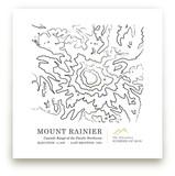 Inked Topography - Mount Rainier