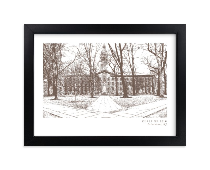 """""""School Series – Princeton, NJ"""" by Minted in beautiful frame options and a variety of sizes."""