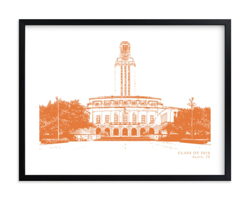 """""""School Series – Austin, TX"""" by Minted in beautiful frame options and a variety of sizes."""
