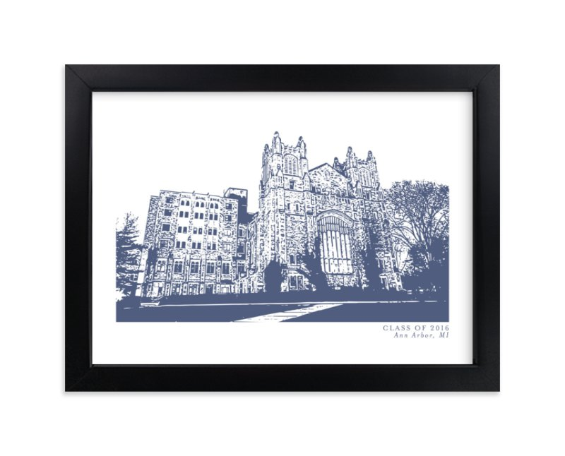 """""""School Series – Ann Arbor, MI"""" by Minted in beautiful frame options and a variety of sizes."""