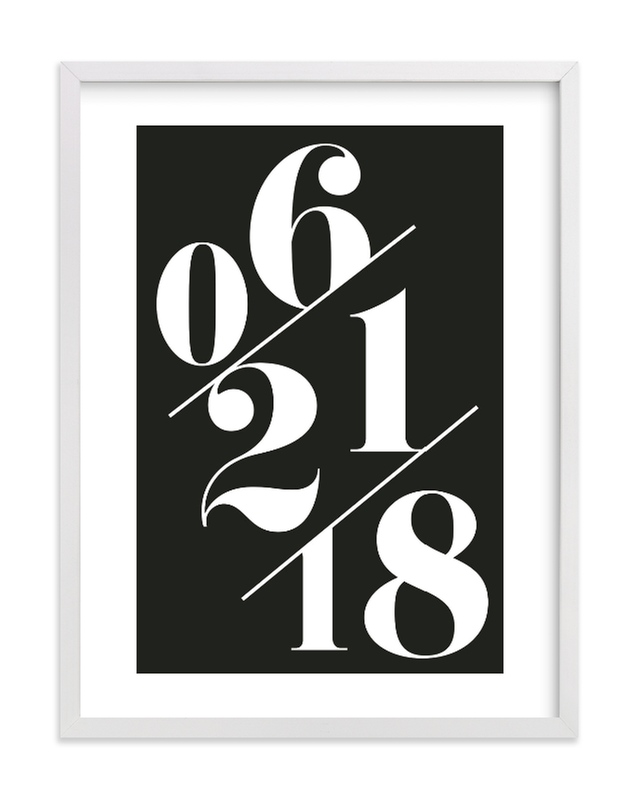 """Serif Date Memento"" by Baumbirdy in beautiful frame options and a variety of sizes."