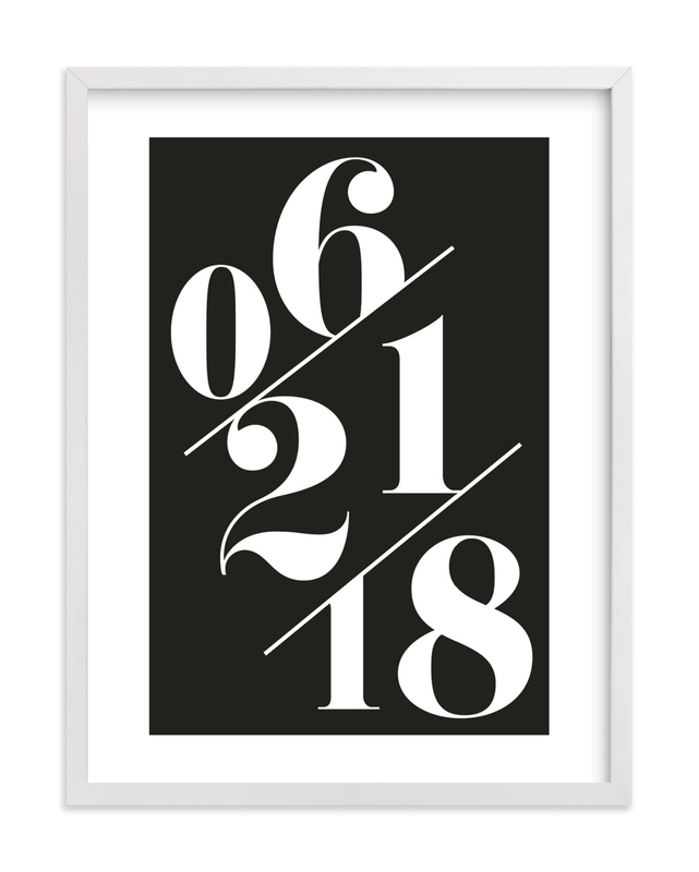 """""""Serif Date Memento"""" by Baumbirdy in beautiful frame options and a variety of sizes."""