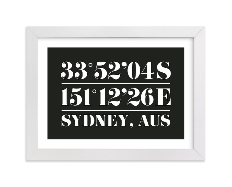 """""""Custom Coordinates"""" by Baumbirdy in beautiful frame options and a variety of sizes."""