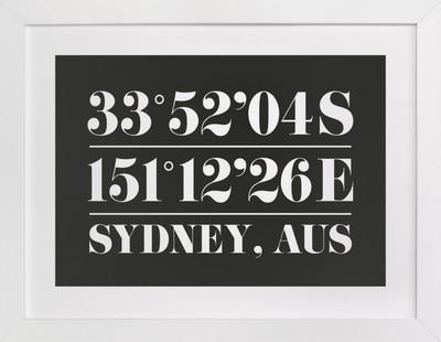 Custom Coordinates Custom Art Print
