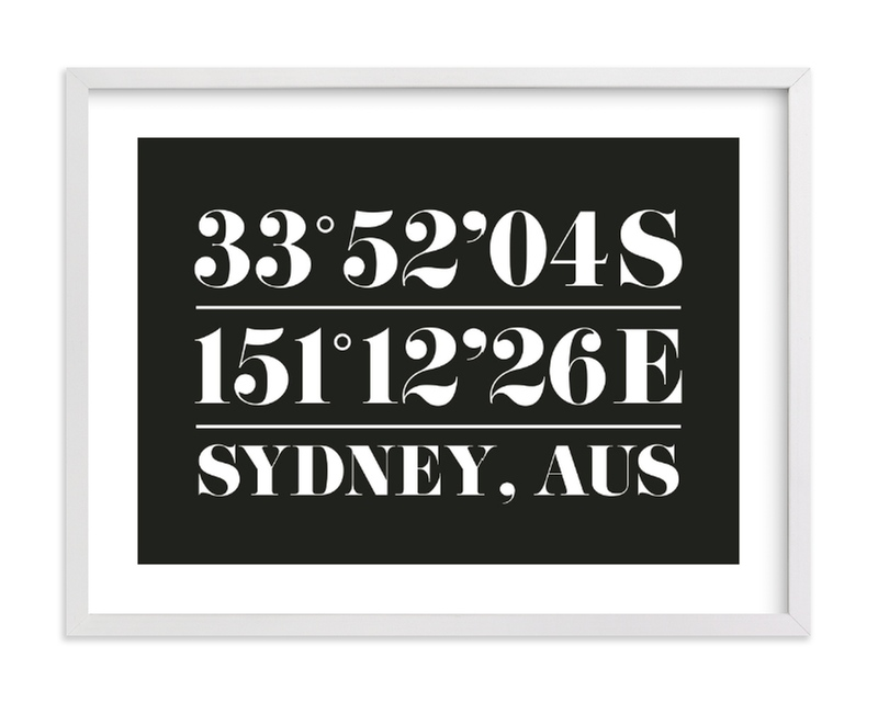 """Custom Coordinates"" by Baumbirdy in beautiful frame options and a variety of sizes."
