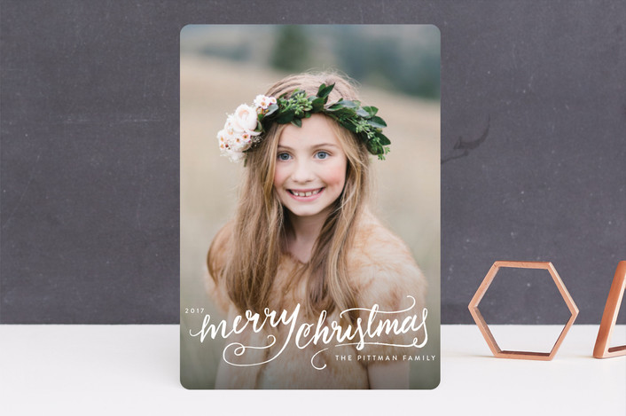 """""""Winter Brush"""" - Bohemian Guildery Holiday Cards in Snow by Kristen Smith."""