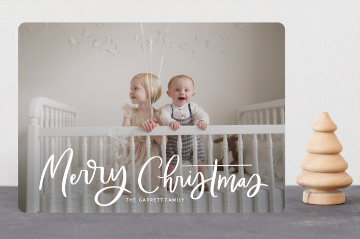 """""""Modern Merry Greeting"""" - Guildery Holiday Cards in Winter by Kristen Smith."""