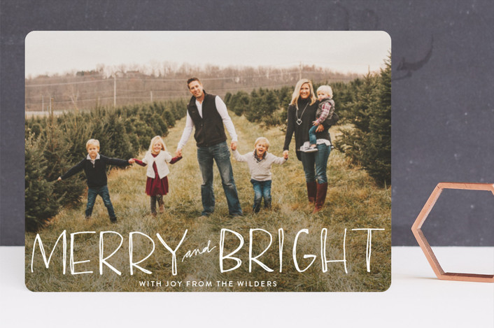 """Be Merry and Bright"" - Guildery Holiday Cards in Snow by Annie Montgomery."