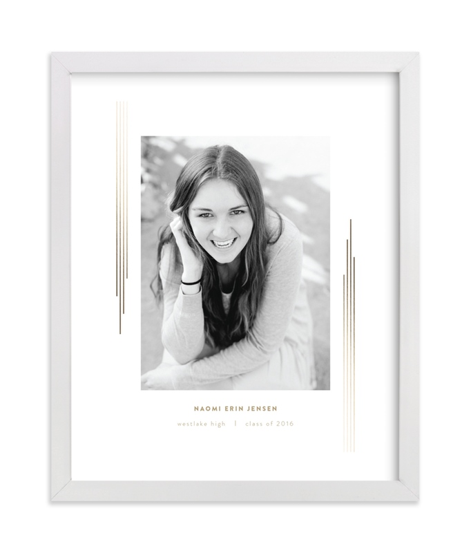 This is a white foil stamped photo art by fatfatin called Stripes Of Success IV GRAD with foil-pressed.