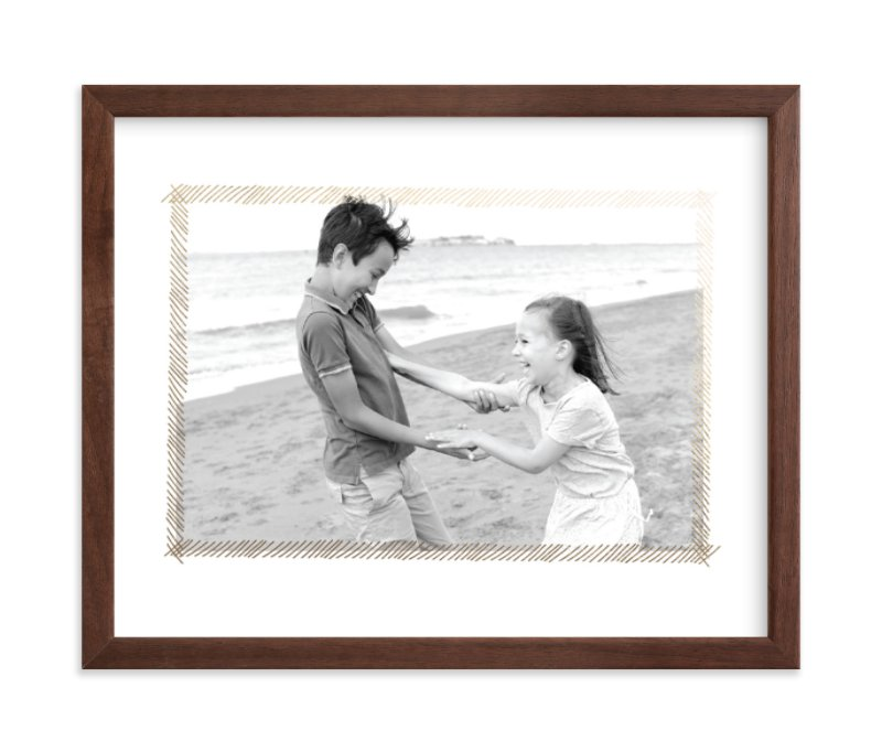 """Hand Sketched Frame"" - Foil Pressed Photo Art Print by June Letters Studio in beautiful frame options and a variety of sizes."
