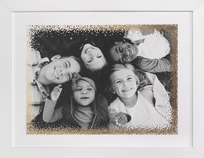Holiday Frame Foil-Pressed Photo Art Print