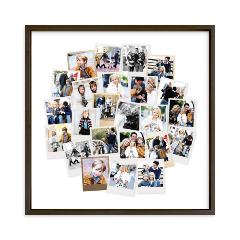 Circle Snapshot Mix® Foil Pressed Photo Art Print