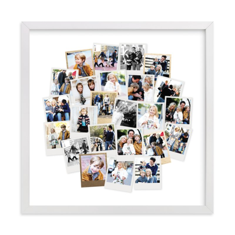 """Circle Snapshot Mix®"" - Foil Pressed Photo Art Print by Minted in beautiful frame options and a variety of sizes."