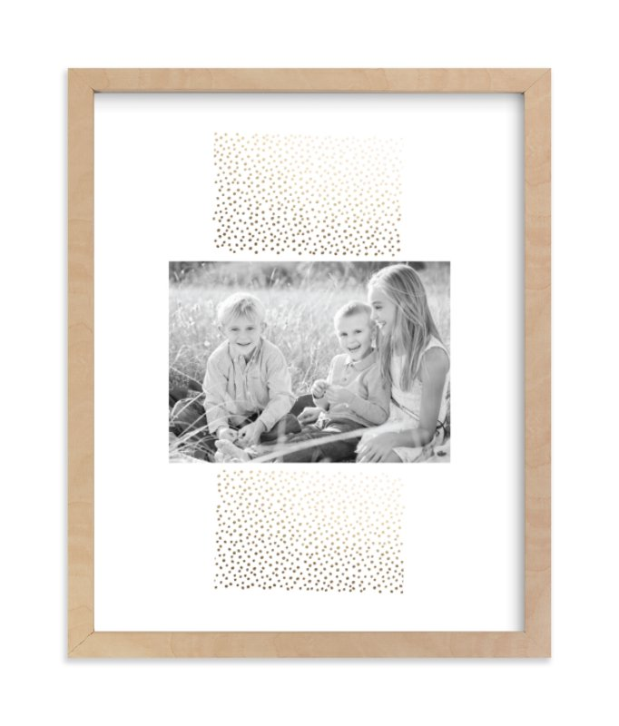 """""""Delicate Dots"""" - Foil Pressed Photo Art Print by Ashley Hegarty in beautiful frame options and a variety of sizes."""