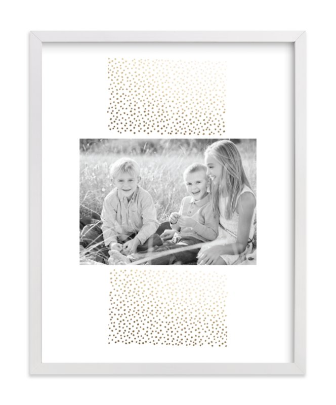 This is a gold foil stamped photo art by Ashley Hegarty called Delicate Dots with foil-pressed.
