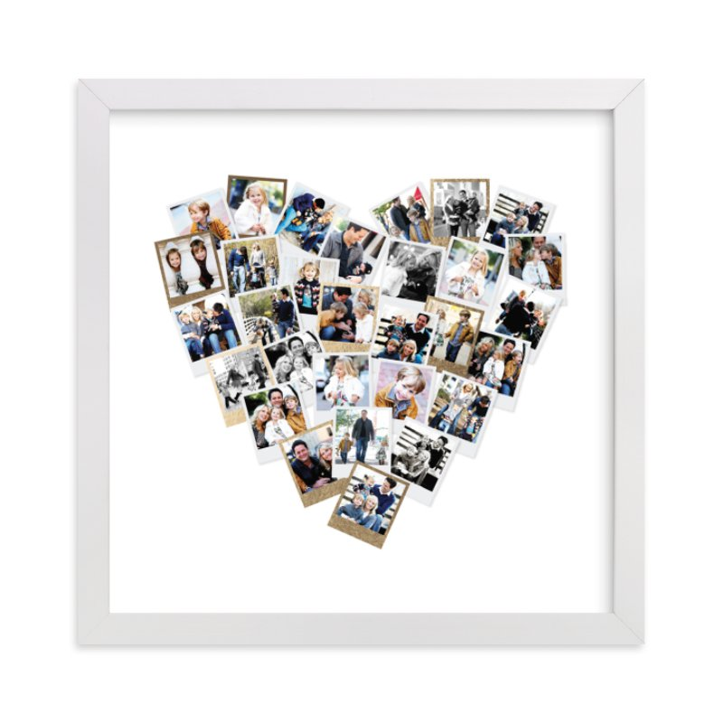 This is a gold foil stamped photo art by Minted called Heart Snapshot Mix®.