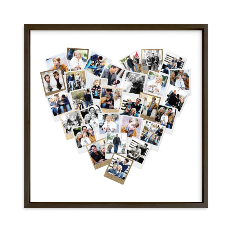 Heart Snapshot Mix® Foil Pressed Photo Art Print