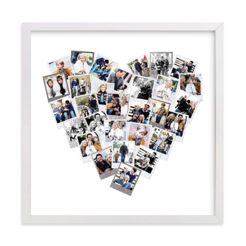 Heart Snapshot Mix® Foil Pressed Photo Art Print
