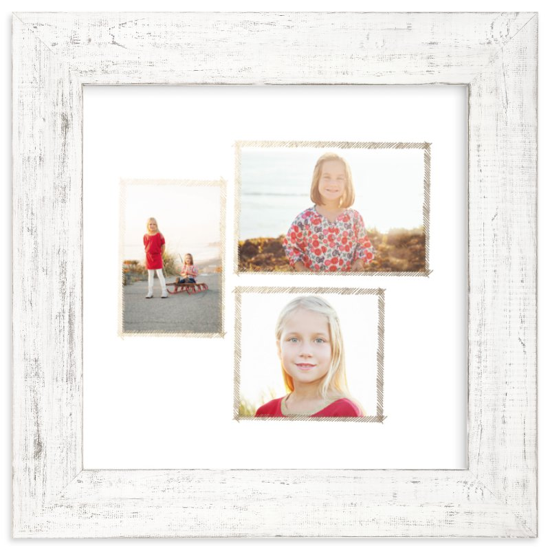 """""""Hand Sketched Trio"""" - Foil Pressed Photo Art Print by June Letters Studio in beautiful frame options and a variety of sizes."""