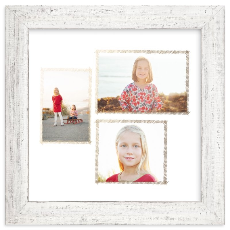 """Hand Sketched Trio"" - Foil Pressed Photo Art Print by June Letters Studio in beautiful frame options and a variety of sizes."