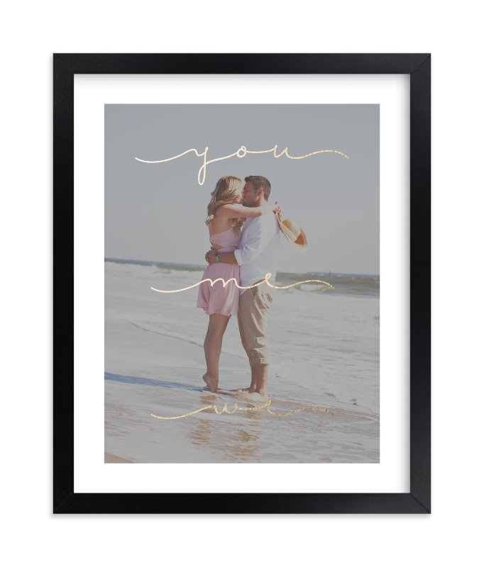 """You Me We"" - Foil Pressed Photo Art Print by Sam Dubeau in beautiful frame options and a variety of sizes."