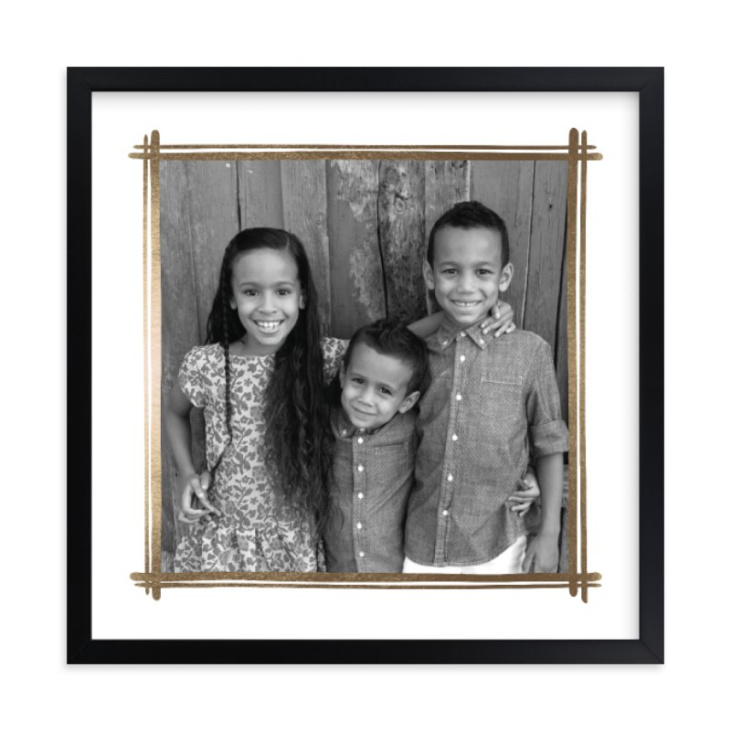 Gilded Foil Pressed Photo Art Print