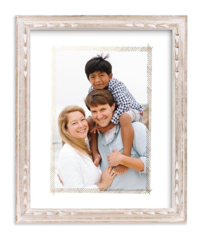 Hand-Sketched Frame Foil-Pressed Photo Art by June Letters Studio ...