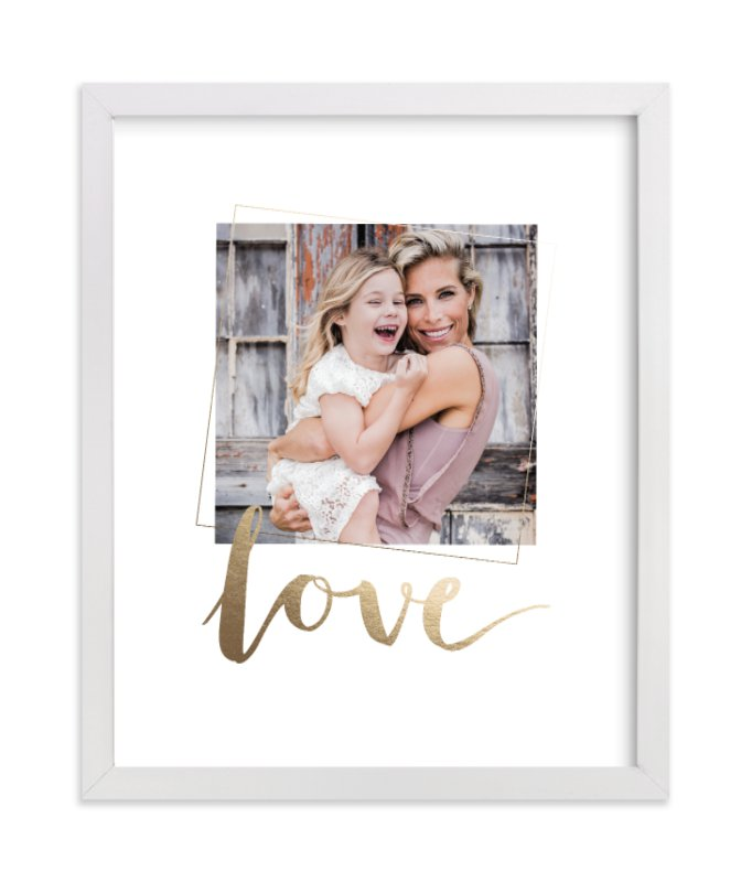 This is a gold foil stamped photo art by Seven Swans called Love You, Love with foil-pressed.
