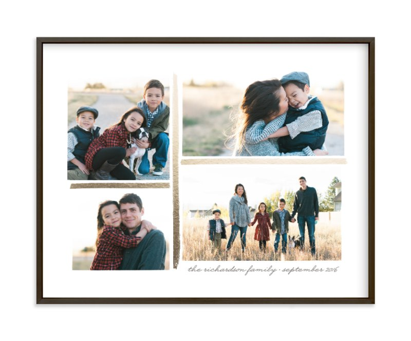 4 Photo Collage Foil Pressed Photo Art Print