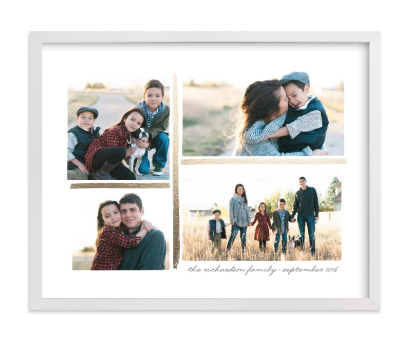 4 Photo Collage Foil Pressed Photo Art Print