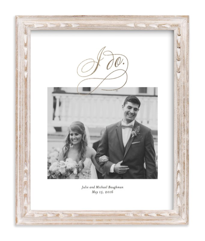 """I Do"" - Foil Pressed Photo Art Print by Kimberly FitzSimons in beautiful frame options and a variety of sizes."