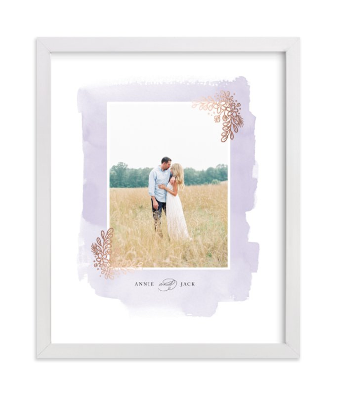 This is a purple foil stamped photo art by Four Wet Feet Studio called Frosted with foil-pressed.