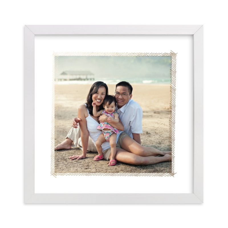 """""""Hand Sketched Frame"""" - Foil Pressed Photo Art Print by June Letters Studio in beautiful frame options and a variety of sizes."""