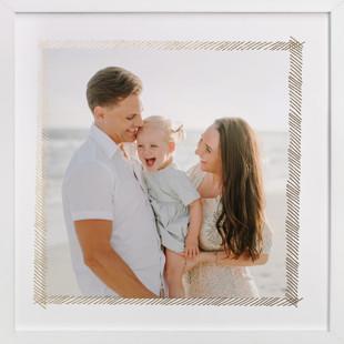 Hand Sketched Frame Foil-Pressed Photo Art Print