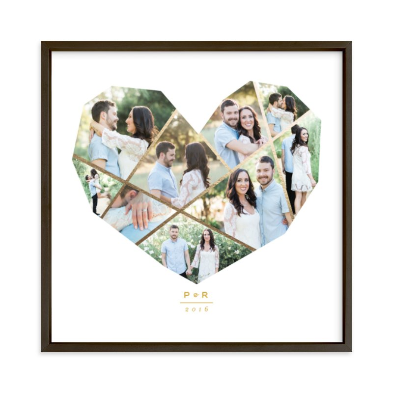Complete Love Foil Foil Pressed Photo Art Print