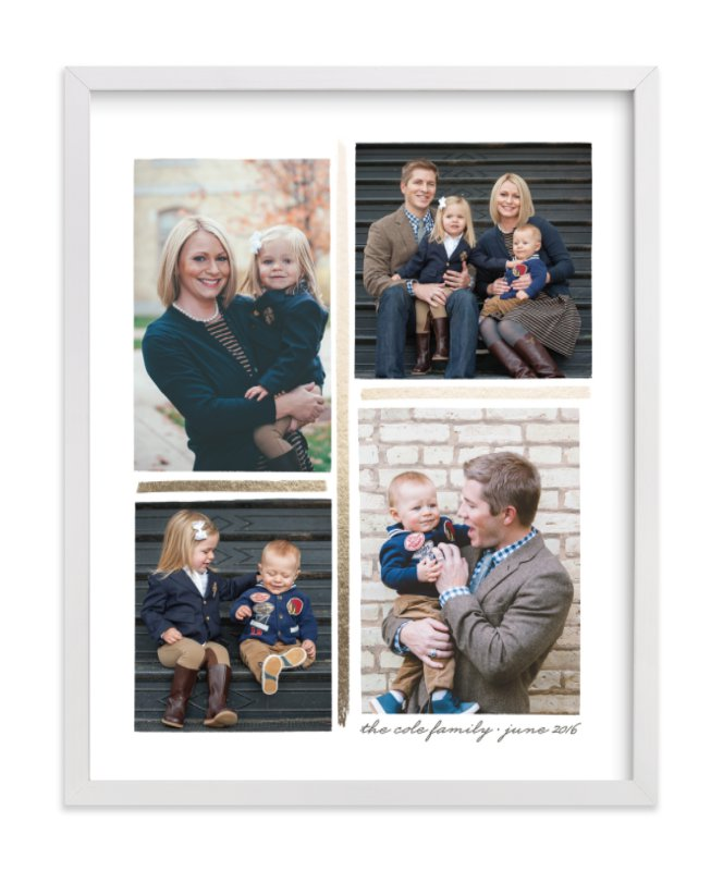 """""""4 Photo Collage"""" - Foil Pressed Photo Art Print by Hooray Creative in beautiful frame options and a variety of sizes."""