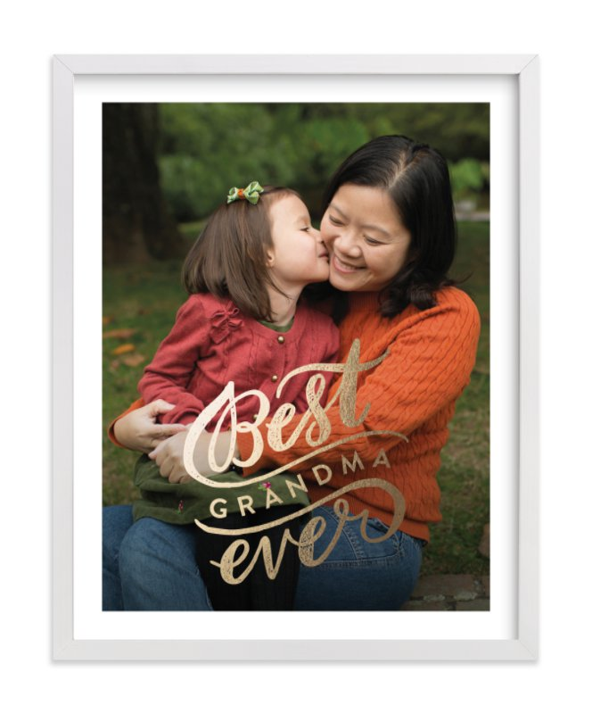 This is a gold foil stamped photo art by Alethea and Ruth called Best Ever with foil-pressed.