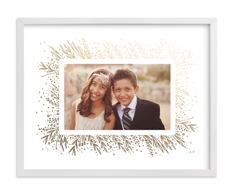 This is a gold foil stamped photo art by Phrosne Ras called Amazing Frame with foil-pressed.