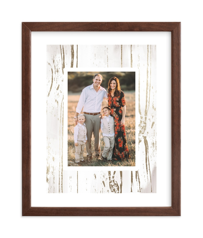 """""""Gilded Woodgrain"""" - Foil Pressed Photo Art Print by Melanie Severin in beautiful frame options and a variety of sizes."""