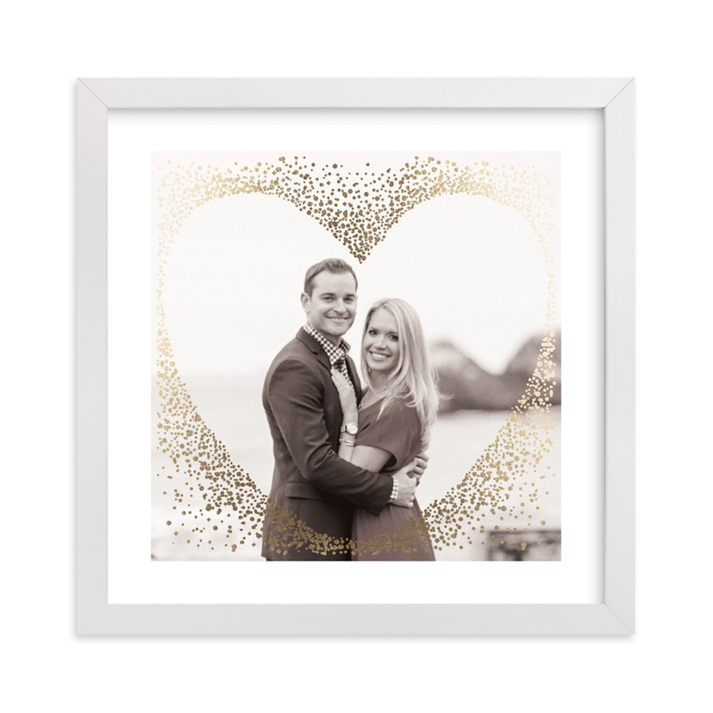 """""""Gilded Heart"""" - Foil Pressed Photo Art Print by Jennifer Lew in beautiful frame options and a variety of sizes."""