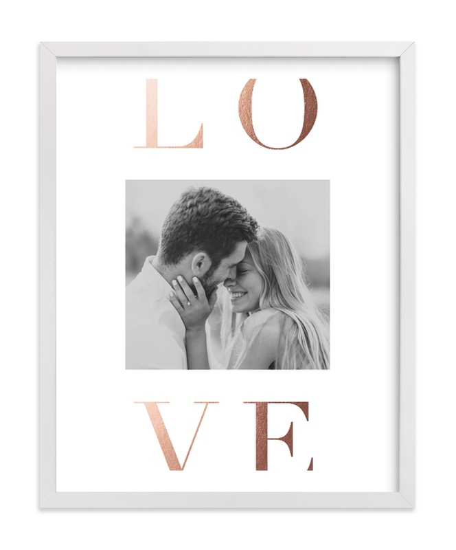 This is a rosegold foil stamped photo art by Lehan Veenker called Love Letters.