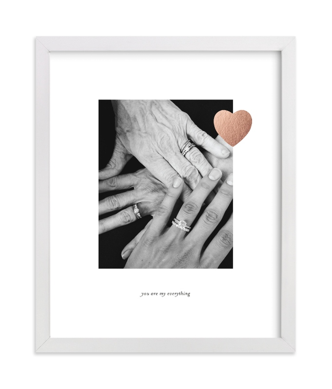 """Mom Love Foil"" - Foil Pressed Photo Art Print by Sara Hicks Malone in beautiful frame options and a variety of sizes."