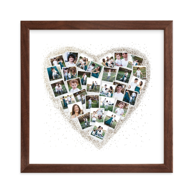 """""""Frosted Heart Snapshot Mix® Photo Art"""" - Foil Pressed Photo Art Print by Minted in beautiful frame options and a variety of sizes."""