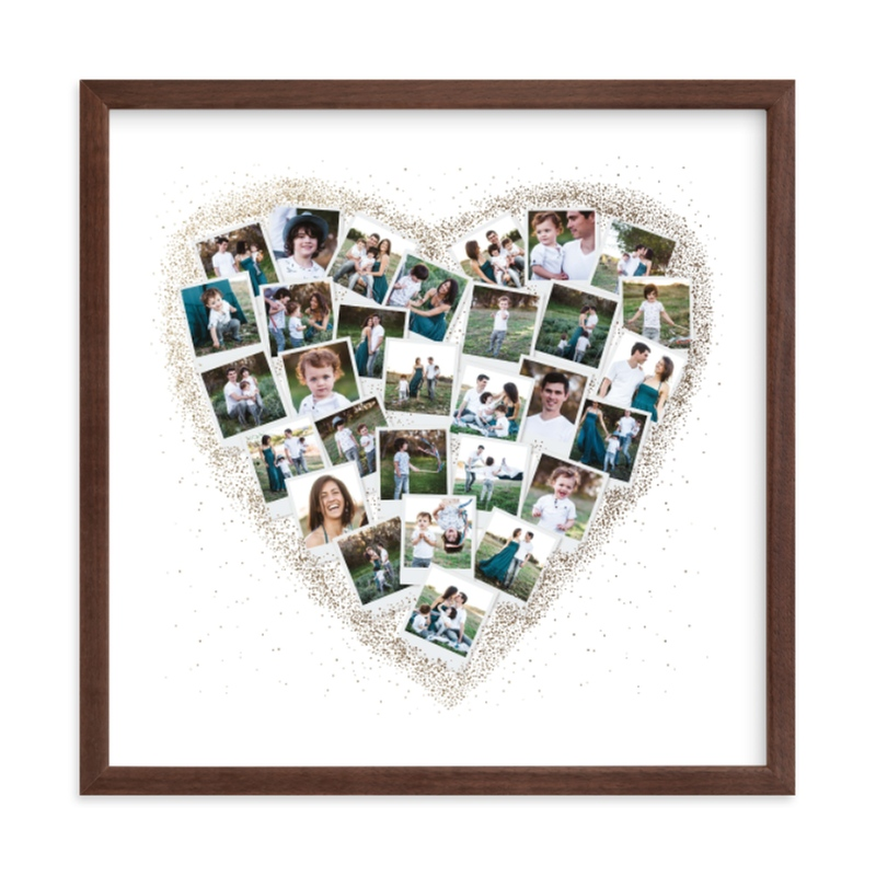 """Frosted Heart Snapshot Mix® Photo Art"" - Foil Pressed Photo Art Print by Minted in beautiful frame options and a variety of sizes."