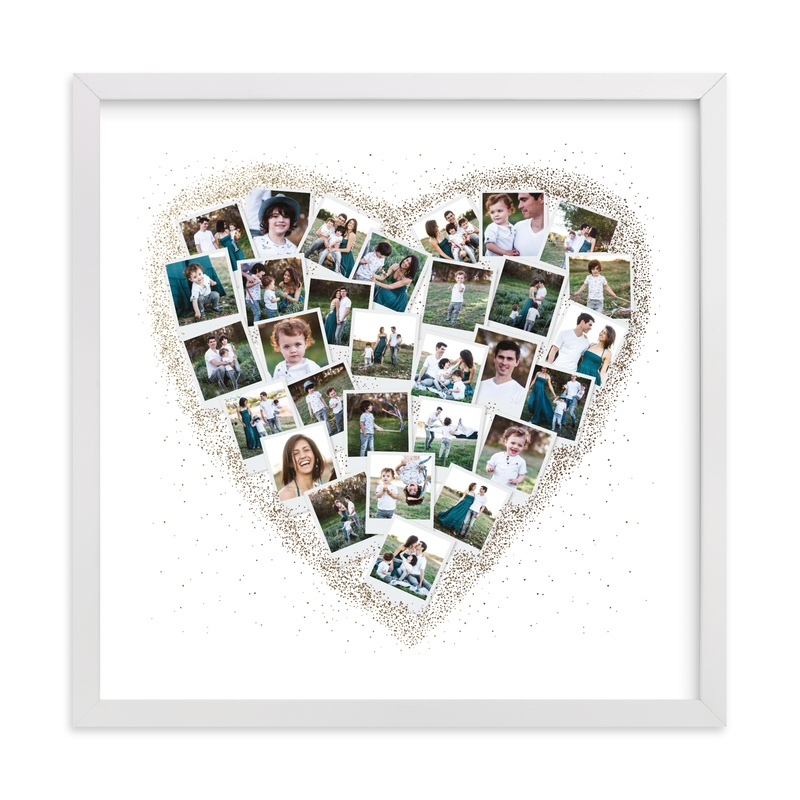 Frosted Heart Snapshot Mix® Photo Art Foil Pressed Photo Art Print